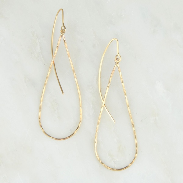 14kt Gold Teardrop Earrings