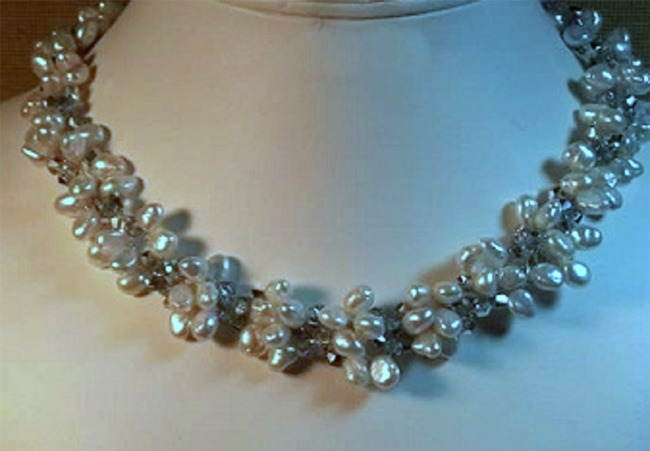Crochet Freshwater Pearl Necklace