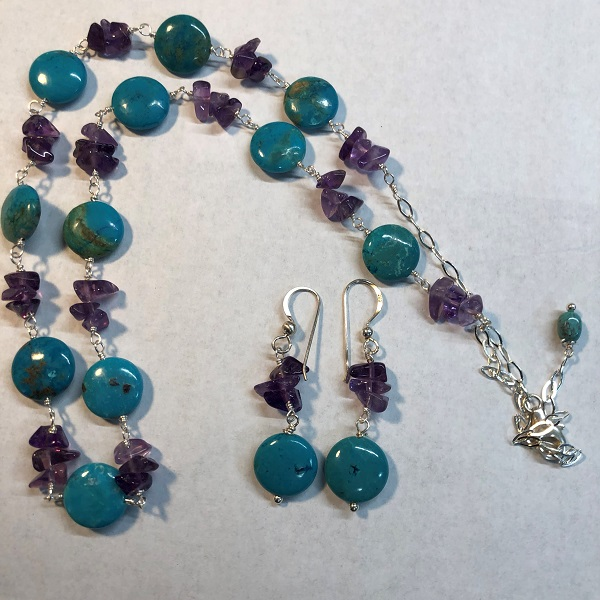 Click to view more Turquoise - Amethyst Jewelry Sets