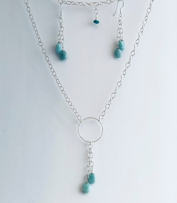 Click to view more Larimar Jewelry Sets