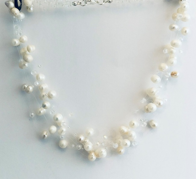 Floating Fresh Water Pearl Wedding Jewelry
