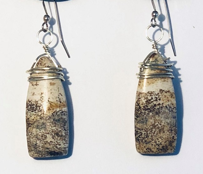 Click to view more Picture Jasper Earrings