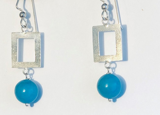 Apatite and Sterling Silver Earrings